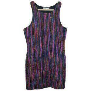 Mika & Gala Woven Multicoloured Bodycon Dress Knit